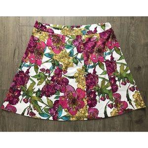 Lane Bryant Floral Skirt 22